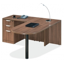 OS Laminate Series L Shaped Desk with Peninsula