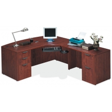 OS Laminate Series L Shaped Desk with Bowfront