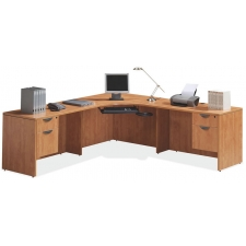 OS Laminate Series L Desk with 2 Hanging Box/Files