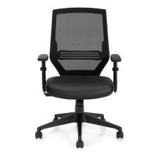 Offices To Go High Back Mesh Chair w/ Vinyl Seat