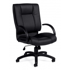 Black Luxhide Leather Office Chair