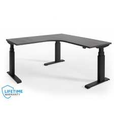 "NewHeights Elegante XT Corner Height Adjustable Desk - 24"" to 51"" Adjustment Range - 485 lbs Capacity  **Made in the USA**"