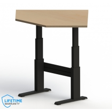 "NewHeights™ Elegante XT Electric Adjustable Corner Desk - 24"" to 51"" Adjustment Range - 325 lbs Capacity **Made in the USA**"