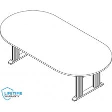 "NewHeights™ Elegante XT 8' or 10' Sit or Stand Conference Table - 24"" to 51"" Adjustment Range - 485 lbs Capacity **Made in the USA**"