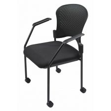 RightAngle Black Plastic Back w/ Fabric Seat Side Chair