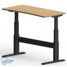 "NewHeights™ Elegante XT Bow Front Sit Stand Desk - 24"" to 51"" Adjustment Range - 325 lbs Capacity **Made in the USA**"