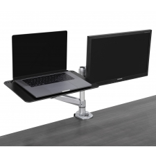 Right Angle Hover Series Monitor Arm Laptop Holder For Desk