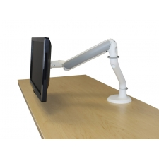 RightAngle Hover Gas Single Monitor Arm - Silver or White