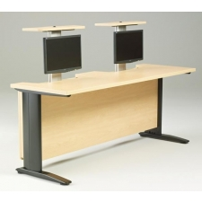 R-Style™ HV Series Computer Table With 2 Pop Up Monitor Arms