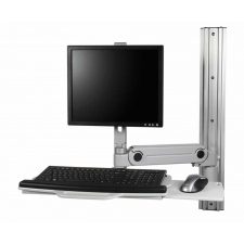 RightAngle Hover Series WM Wall Mounted Workstation w/ Keyboard Tray
