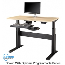 The NewHeights™ Elegante XT NETSTATION Complete Electric Adjustable Workstation with Keyboard System, Monitor Arm and CPU Holder **Made in the USA**