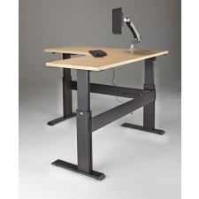 "NewHeights™ Eficiente LT Series L Shaped Electric Sit Stand Desk - 27"" to 47"" Adjustment Range - 375 lbs Capacity **Made in the USA**"