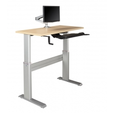 "NewHeights Levante Ultra Fast Manual Crank Height Adjustable Desk 28"" to 47"" Adjustment Range - 150lbs Capacity **Made in the USA**"