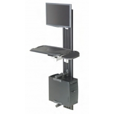 RightAngle VW Series Wall Mount Compact Workstation Adjustable Monitor & Keyboard Arms