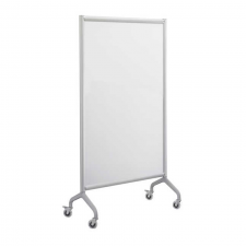 Safco Rumba Grey Finish Screen Whiteboard Metal Frame