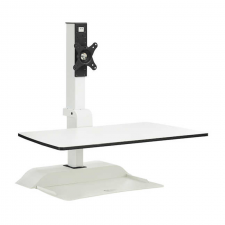 Safco Soar White Finish Electric Desktop Sit/Stand Metal Frame