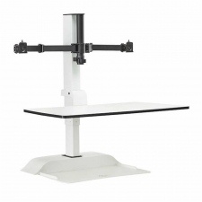 Safco Soar White Finish Electric Desktop Moniter Arm Metal Frame