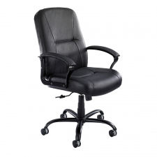 Safco Serenity Big And Tall Leather Chair 500 lb. Rating