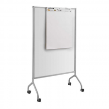 Safco Impromptu Grey Finish Full Whiteboard Screen Metal Frame