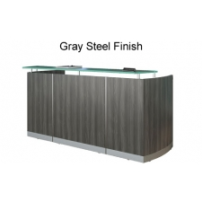 Mayline Medina Reception Desk - Glass Transaction Counter