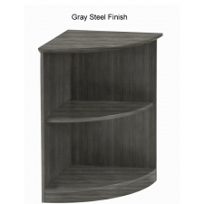 Mayline Medina Series 1/4 Round 2 Shelf Bookcase - 5 Color Options