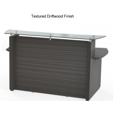 "Safco Sterling 72"" or 96"" Wide Reception Desk - Glass Transaction Counter"