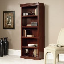 Sauder Heritage Hill 5 Shelf Library Classic Cherry Finish