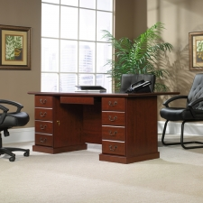Sauder Heritage Hill Traditional Executive Desk With File Storage