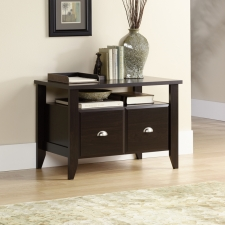 Sauder Shoal Creek Utility Stand With File Drawer Jamocha Finish