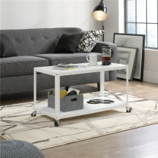Sauder Harvey Park Multi-Cart Coffee Table White Finish