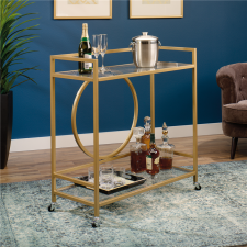 Sauder International Lux Mobile Bar Cart