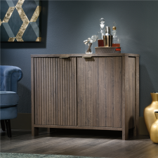 SauderInternational Lux Accent Storage Cabinet With Doors - Fossil Oak Finish