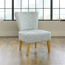 Sauder Harvey Park Marley Accent Guest Chair Solid Wood Legs