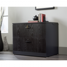 Sauder Black Finish Wood Lateral File