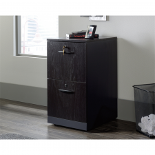 Sauder Via Collection Bourbon Oak finish Wood 2-Drawer Pedestal