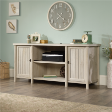 Sauder Costa Credenza w/ Storage Chalked Chestnut Finish