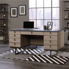 "Sauder International Lux 60"" Executive Desk -  Ash Finish"