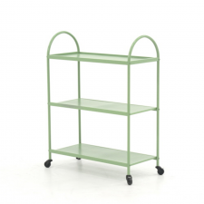 Sauder Boulevard Cafe Green Finish Library Cart