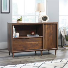Sauder Clifford Place Credenza w/ Single Lateral Drawer Grand Walnut Finish