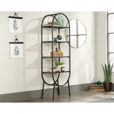 Sauder Boulevard Cafe Black Finish Open Shelving