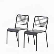 Sauder Boulevard Cafe Black Finish Metal Chair