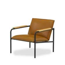 Sauder Boulevard Cafe Lounge Chair Camel Finish