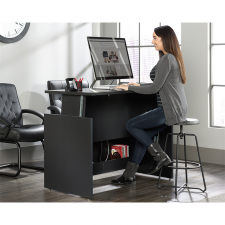 Sauder Via Collection Bourbon Oak finish Sit/Stand Desk