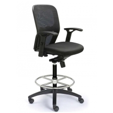 "Valo Polo Mesh Back Drafting Stool - Seat Height 19"" to 26"""