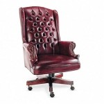 Alera Wing Back Traditional Office Chair w/ Brass Nailhead Trim (ALE-CE41)
