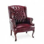 Alera Traditional Series Wing Back Arm Chair w/ Brass Nailhead Trim (ALE-CE42)