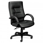 Basyx High Back Executive Leather Office Chair w/ Padded Fixed Arms (BAS-VL691)