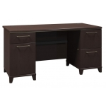 Bush Enterprise Collection Double Pedestal Home Office Desk