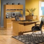 "Bush Milano2 Series Office Desk Bundle w/ 72"" Bow Front Double Pedestal Desk, Kneespace Credenza, Overhead Credenza (BBF-MIL2)"