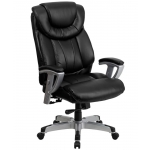 "BTOD Big And Tall Leather Office Chair 22.75"" Wide Seat Rated For 400 lbs. (GO-1534-BK-LEA-GG)"